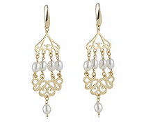 Honora 6mm Cultured Pearl Chandelier Drop Earrings Bronze - 330654
