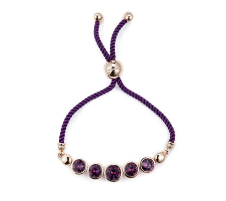 Aurora Swarovski Crystal Faceted Friendship Bracelet