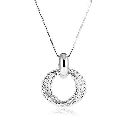 Links of London Aurora Cluster 47cm Necklace Sterling Silver