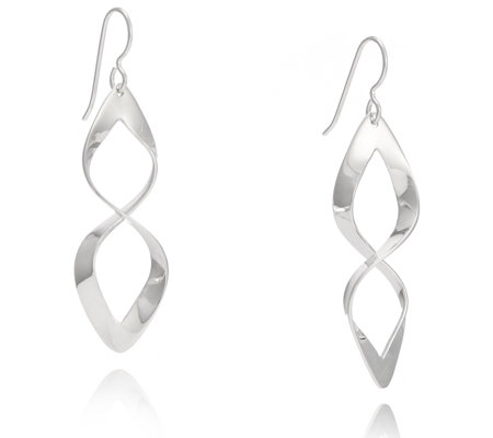 Taxco Traditions Infinity Design Drop Earrings Sterling Silver