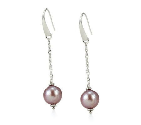 Honora 11-12mm Cultured Ming Pearl Drop Earring Sterling Silver
