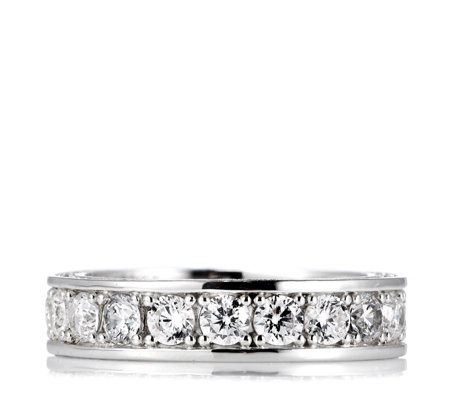 Michelle Mone for Diamonique 2.9ct tw Eternity Ring Sterling Silver