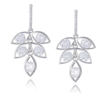 Diamonique 5ct tw Chandelier Earrings Sterling Silver - 309357