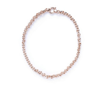 Bronzo Italia Belcher Link Bolt Ring Necklace - 308858