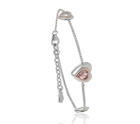 Clogau 9ct Rose Gold & Sterling Silver David Emanuel Misty Bracelet