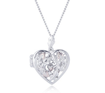 Clogau 9ct Rose Gold & Sterling Silver Heart Locket 56cm Necklace - 319459