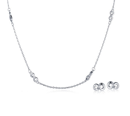 Roberto by RFM Infinity Station 90cm Necklace & Earring Set
