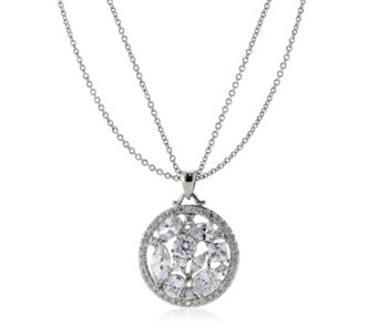 Michelle Mone for Diamonique 4.8ct tw Mixed Cut Pendant & Chain Sterling Silver - 307660