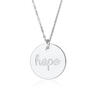 Bianca Platinum Plated Sentiments Necklace Sterling Silver - 308160