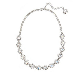 Butler & Wilson Faux Pearl Crystal Flower 49cm Necklace - 304561