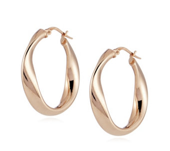 Bronzo Italia Wave Hoop Earrings - 306761