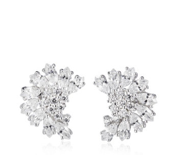 Diamonique 3ct tw Fancy Earrings Sterling Silver - 320262
