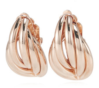 Frank Usher Feather Clip Earrings - 306663