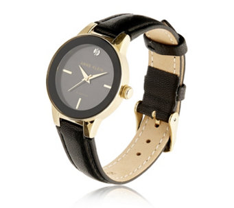 Anne Klein Mother Of Pearl Holly Leather Strap Watch - 315163