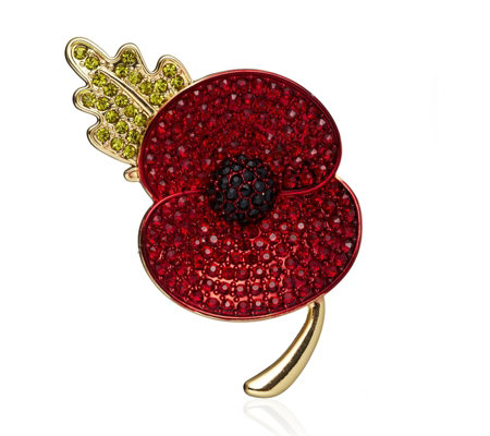 Buckley Small Leaf Poppy Brooch