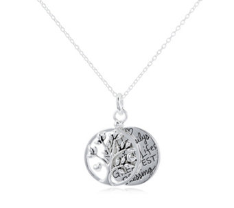 Extraordinary Life Family Tree Pendant & Chain Sterling Silver - 307964
