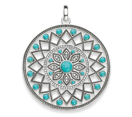 Thomas Sabo Dreamcatcher Turquoise Pendant Sterling Silver