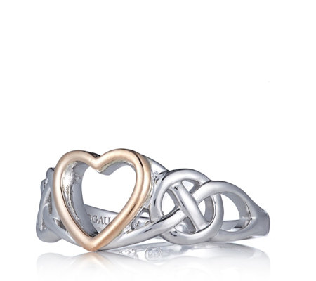 Clogau 9ct Rose Gold & Sterling Silver Claddagh Heart Ring