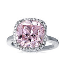 Michelle Mone for Diamonique 8.5ct tw Cushion Cocktail Ring Sterling Silver - 312764