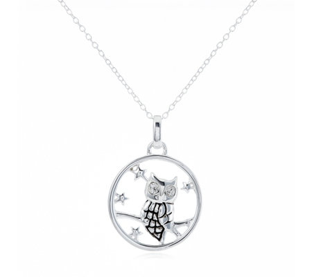 Extraordinary Life Owl Love You Pendant & Chain Sterling Silver
