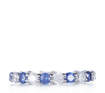 Diamonique 2.1ct tw Simulated Gemstone Full Eternity Ring Sterling Silver - 308765