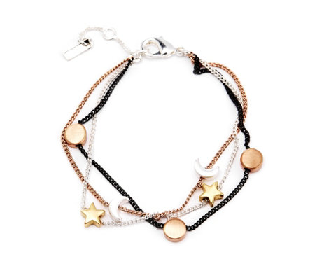 Pilgrim Star Moon & Circle Bracelet