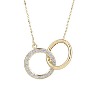 9ct Gold Stardust Linked 41cm Necklace - 317465