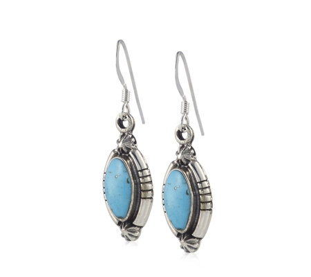 Nizhoni Turquoise Drop Earrings Sterling Silver