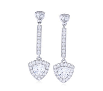 Diamonique 1.3ct tw Trillion Drop Earrings Sterling Silver - 309766