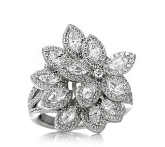 Michelle Mone for Diamonique 2.8ct tw Marquise Cocktail Ring Sterling Silver - 312766