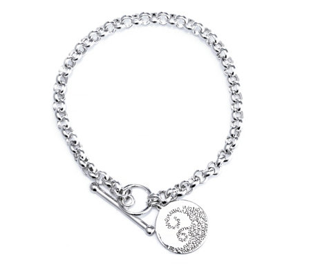 Extraordinary Life Toggle Charm Bracelet Sterling Silver