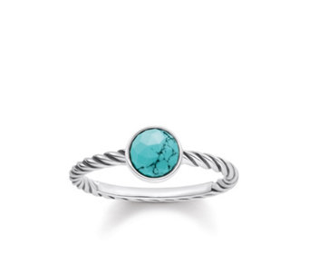Thomas Sabo Glam & Soul Turquoise Ring Sterling Silver - 312367