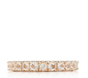 0.55ct African Morganite 1/2 Eternity Ring Rose Gold Vermeil Sterling Silver - 315067