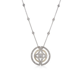 Diamonique by Tova 3.1ct tw Circle 47cm Necklace Sterling Silver - 307469