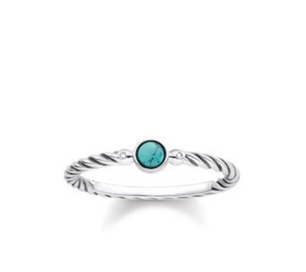 Thomas Sabo Glam & Soul Simulated Turquoise Ring Sterling Silver - 312369