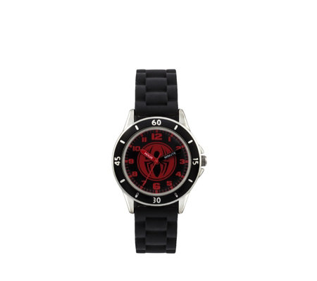 Marvel Spider-Man Time Teacher Rubber Strap Watch