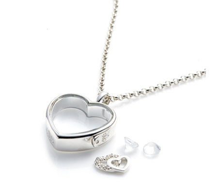 Anais Heart 45cm Locket & Charms Bundle Sterling Silver