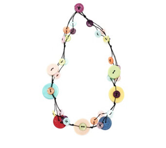One Button Weaved & Woven 48cm Necklace - 312870