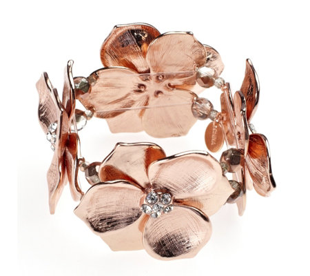Michael Kaye Bijoux Eden Flower Stretch Bracelet