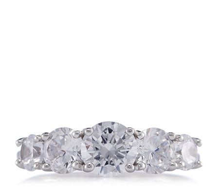 Michelle Mone for Diamonique 2.4ct tw 5 Stone Ring Sterling Silver