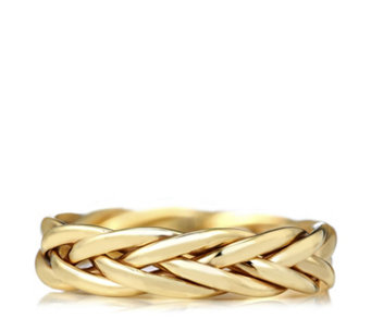 9ct Gold Plaited Band Ring - 320171