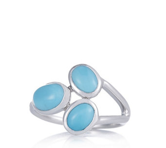 Sleeping Beauty Turquoise Trilogy Ring Sterling Silver - 309672