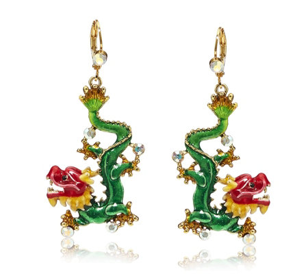 Butler & Wilson Chinese Dragon Earrings