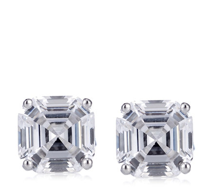 Michelle Mone for Diamonique 8.5ct tw Stud Earrings Sterling Silver