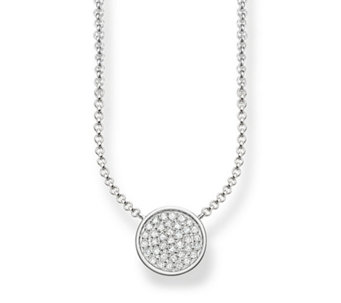 Thomas Sabo Sparking Circles 45cm Necklace Sterling Silver - 312373