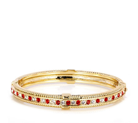 Princess Grace Collection Simulated Ruby & Diamond Bangle