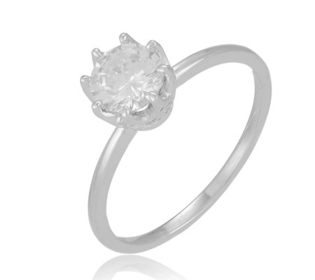 Diamonique 1.1ct Solitaire Ring Sterling Silver