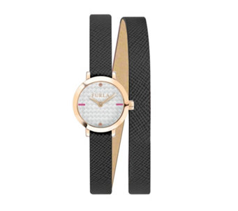 Furla Ladies Vittoria Leather Strap Watch - 314973