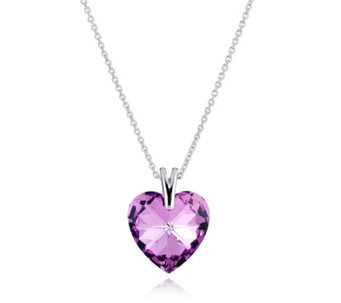 Crystal Glamour with Swarovski Crystal Heart 45cm Necklace - 306374