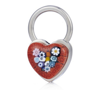 Murano Glass Heart Keyring - 308874